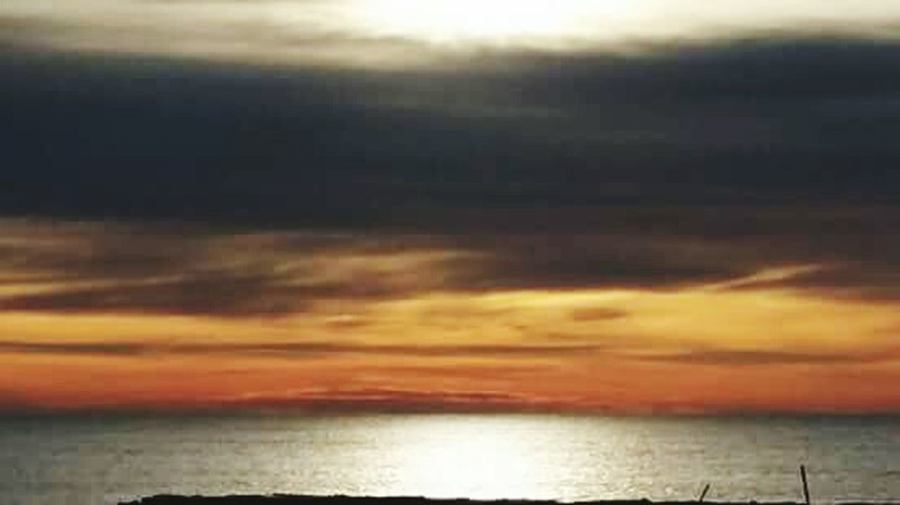 sunset, sea, scenics, nature, tranquility, tranquil scene, sky, horizon over water, beauty in nature, cloud - sky, water, no people, outdoors, beach, day