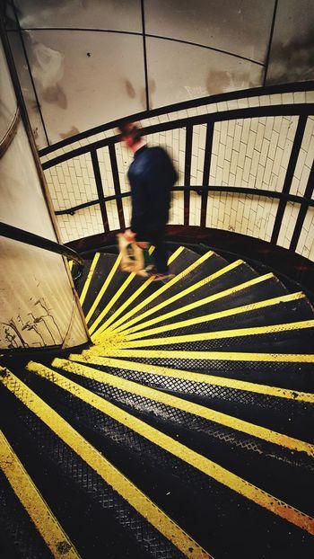 Tube Underground EyeEm Best Shots EyeEm Best Edits Galaxys6 London Streetphotography Yellow Stairs Graphic