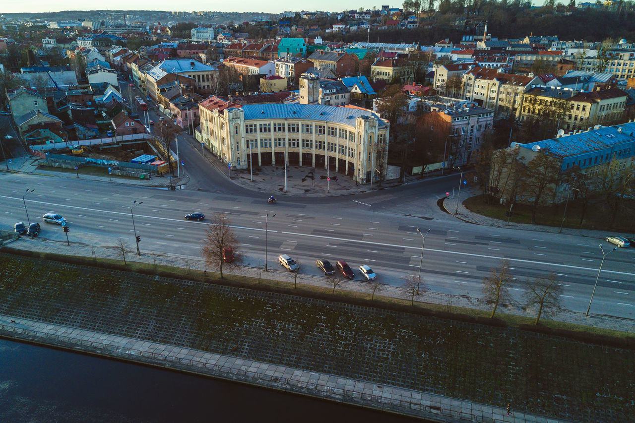 Architecture Aerial View Architecture Building Exterior Built Structure City Cityscape Day DJI Mavic Pro Drones High Angle View Lietuva Mavic Mavic Pro Outdoors People Road Spring Traffic Circle Transportation