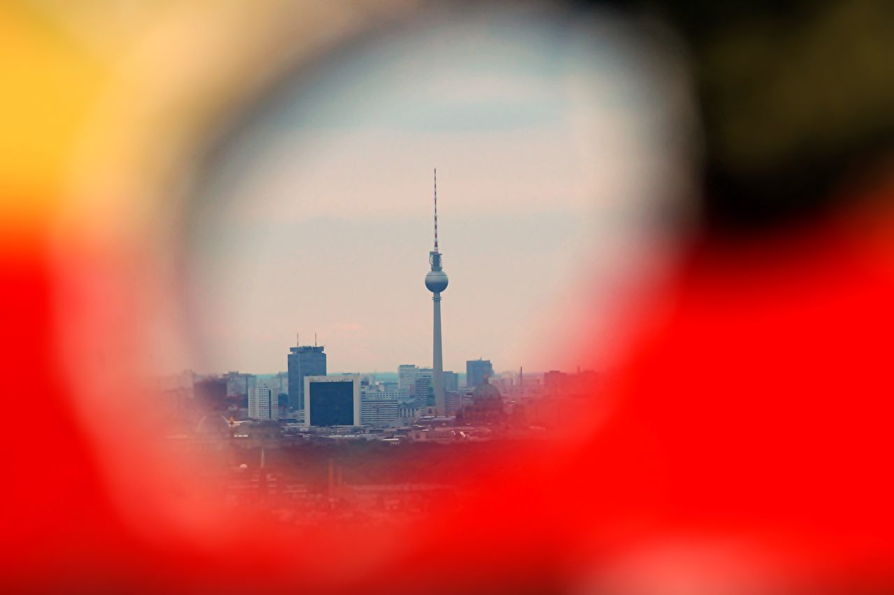 Berlin in a German hole Architecture Berlin Black Red Gold Capital Cities  City Communication Communications Tower Fernsehturm German German Flag Germany Global Communications International Landmark Tourism Tower