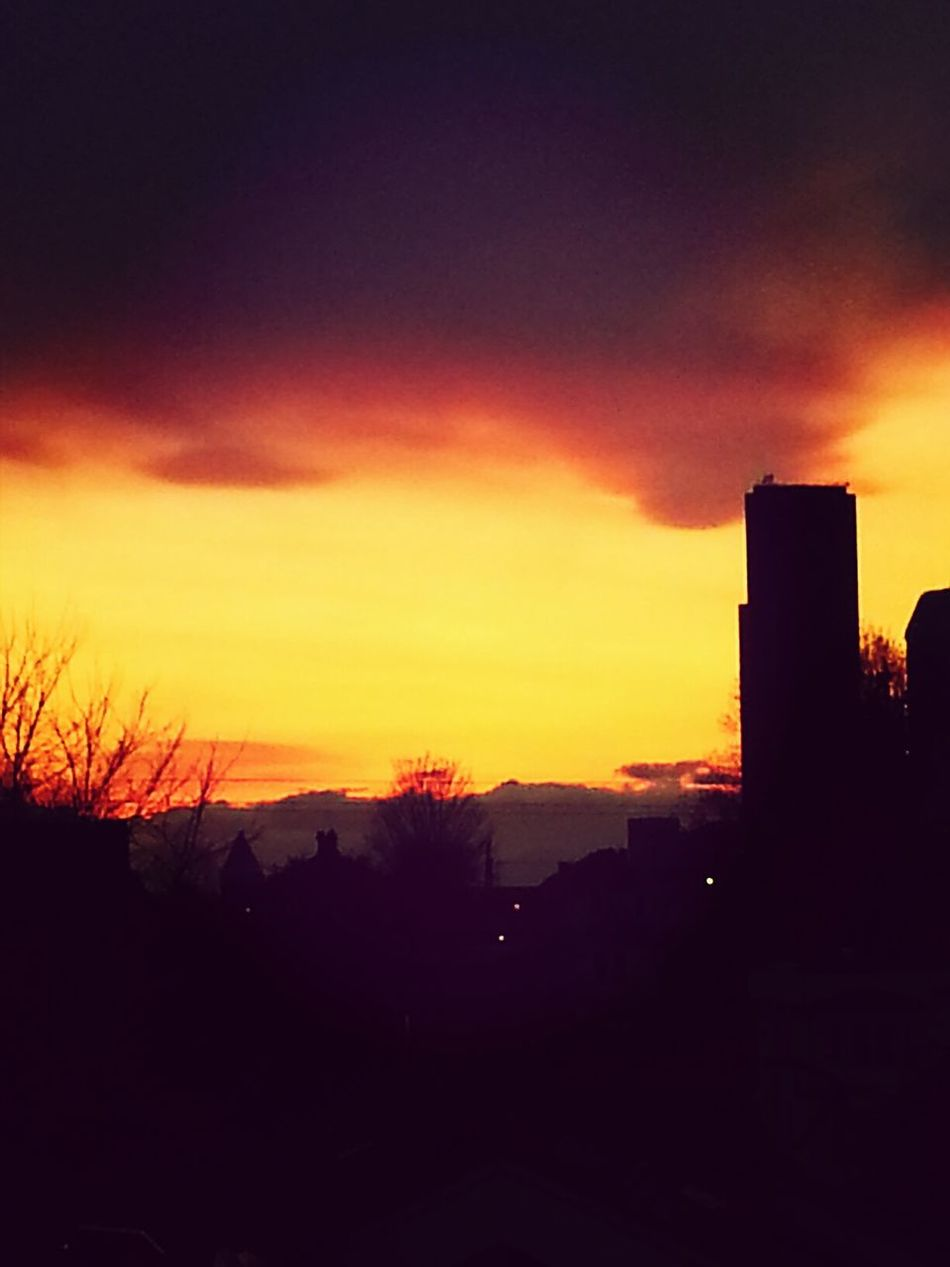 Evening sky on fire Sunsets