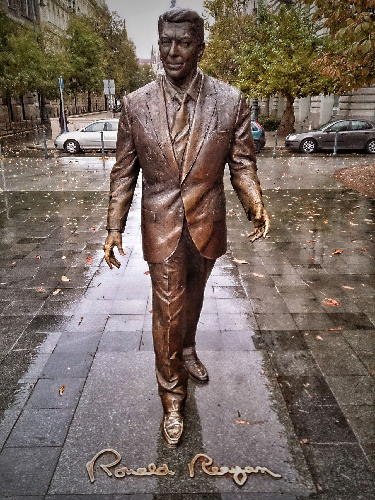 Ronald Reagan  President One Man Only Street Rain One Person People Day Wet Portrait Rainy Days☔ Sculpture