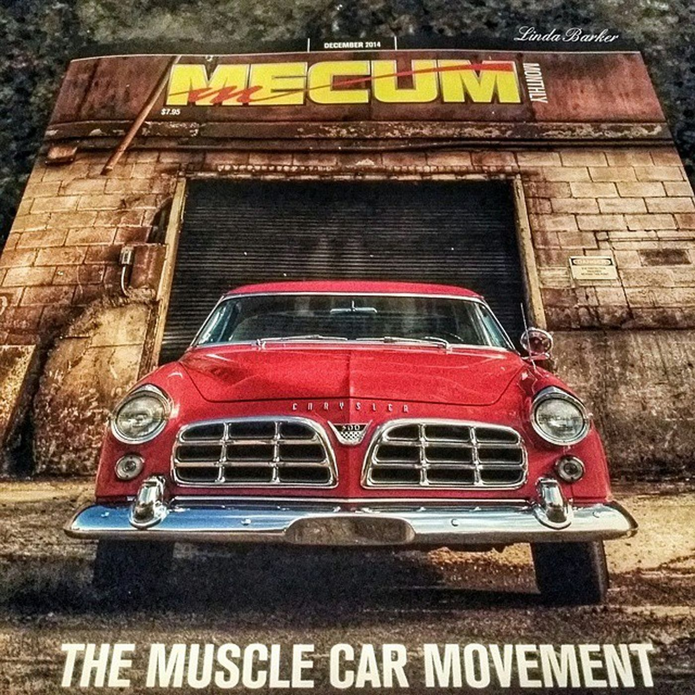 Hubbeee went to the the Mecum car auction and all I got was this magazine.. but it DOES have a Chrysler 300 on the cover!♡