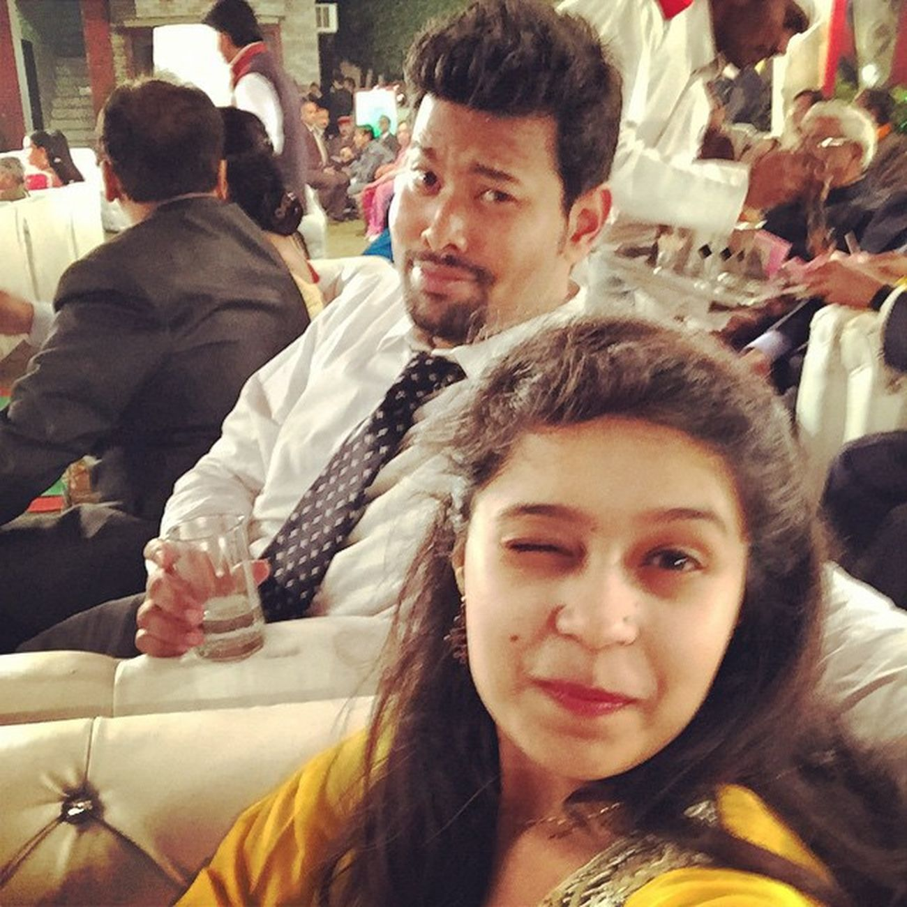 Because normal faces are too mainstream 😛 CousinsWedding Weirdfaces Toomuchdancing