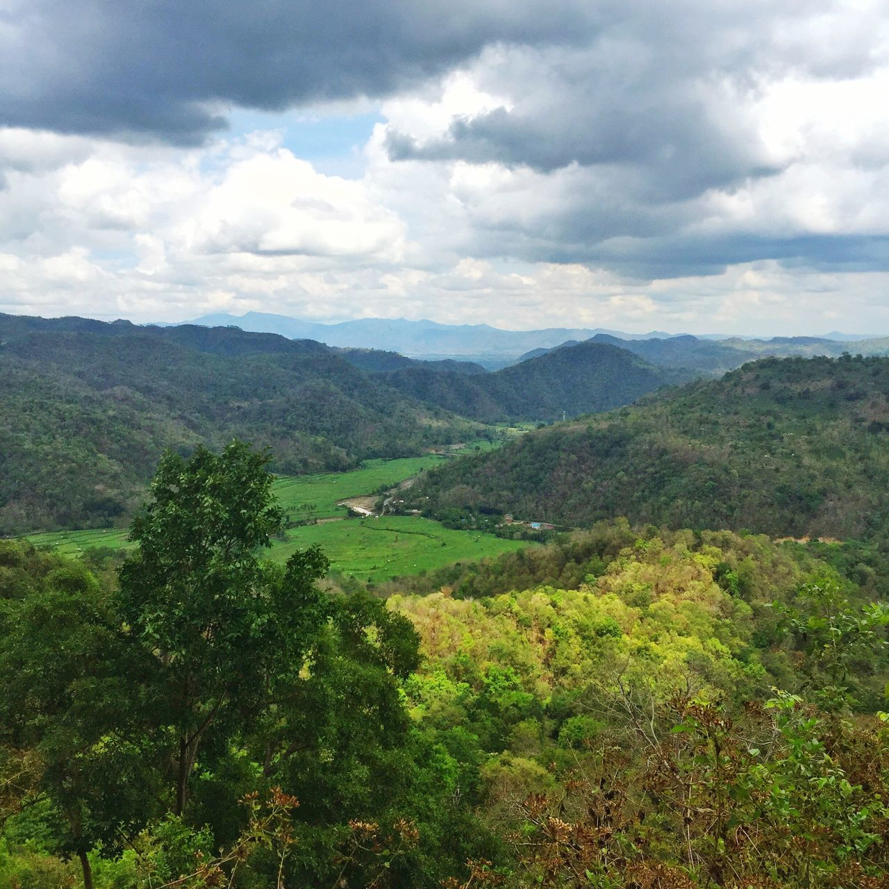 Wawo village bima Tranquil Scene Scenics Landscape Beauty In Nature Mountain Range High Angle View Cloudy Green Tranquility Tree Sky IPhoneography Iphonephotography Iphonesia Iphone6