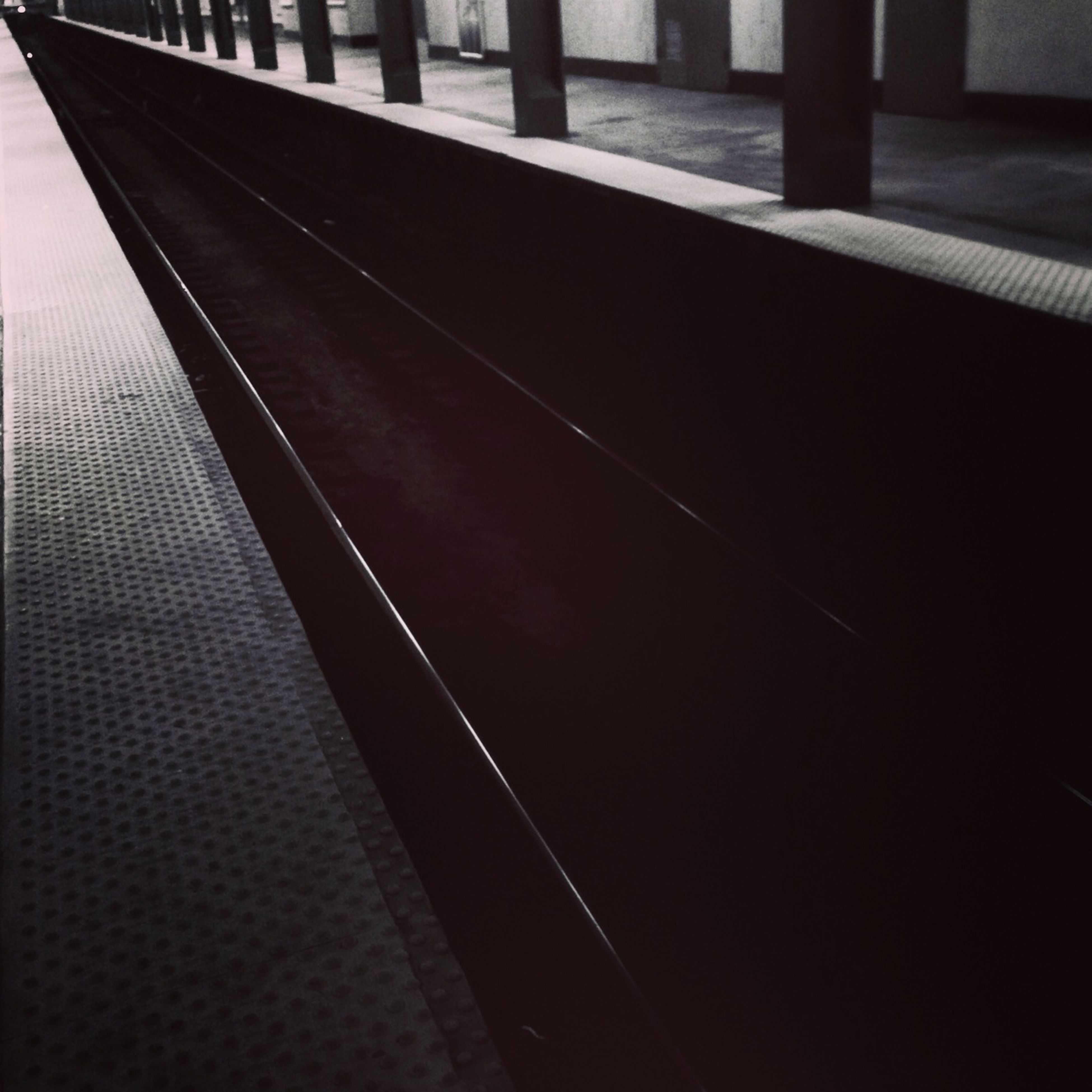 built structure, architecture, railing, transportation, building exterior, no people, metal, city, bridge - man made structure, sunlight, shadow, outdoors, day, pattern, connection, architectural column, reflection, water, empty, metallic