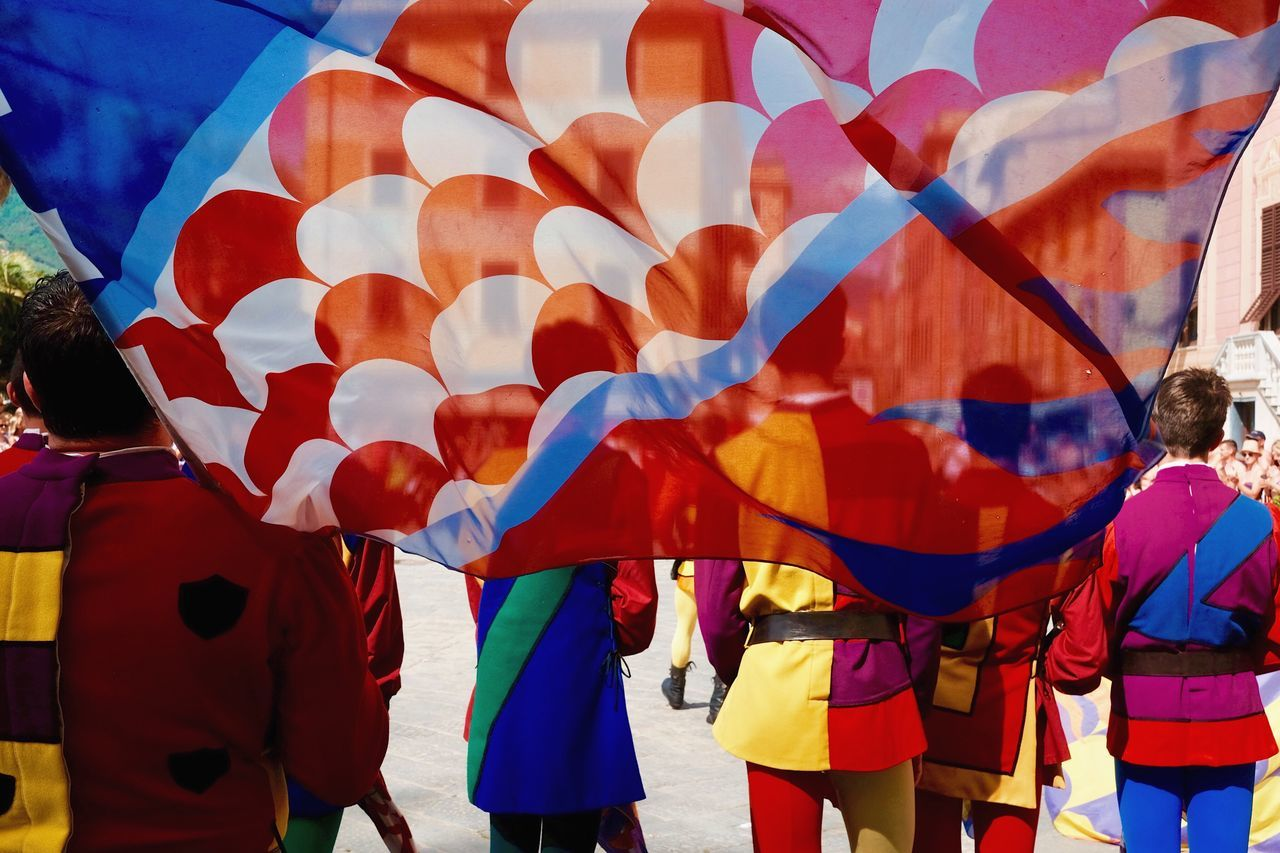 Alfieri. Celebration Large Group Of People Real People Day Traditional Festival Outdoors Red Multi Colored Men Togetherness Adult People