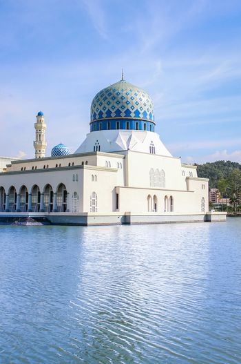 The floating mosque of Sabah Floating Floating Mosque Mosque Blue Muslim Kota Kinabalu Sabah Malaysia