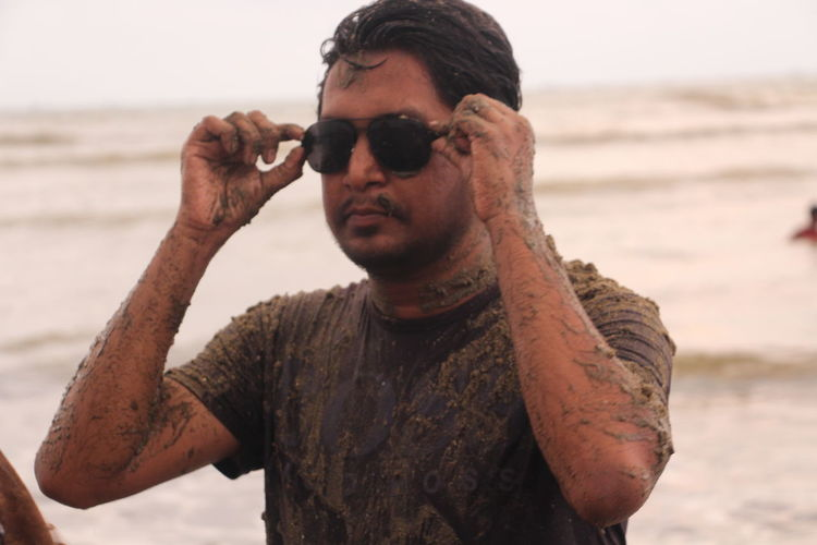 Balu..sea..boss One Man Only Only Men Adult Beard Tattoo One Person Front View Adults Only Beach Individuality Mid Adult Body Adornment Outdoors Men People Sand Sea Human Body Part Portrait Day