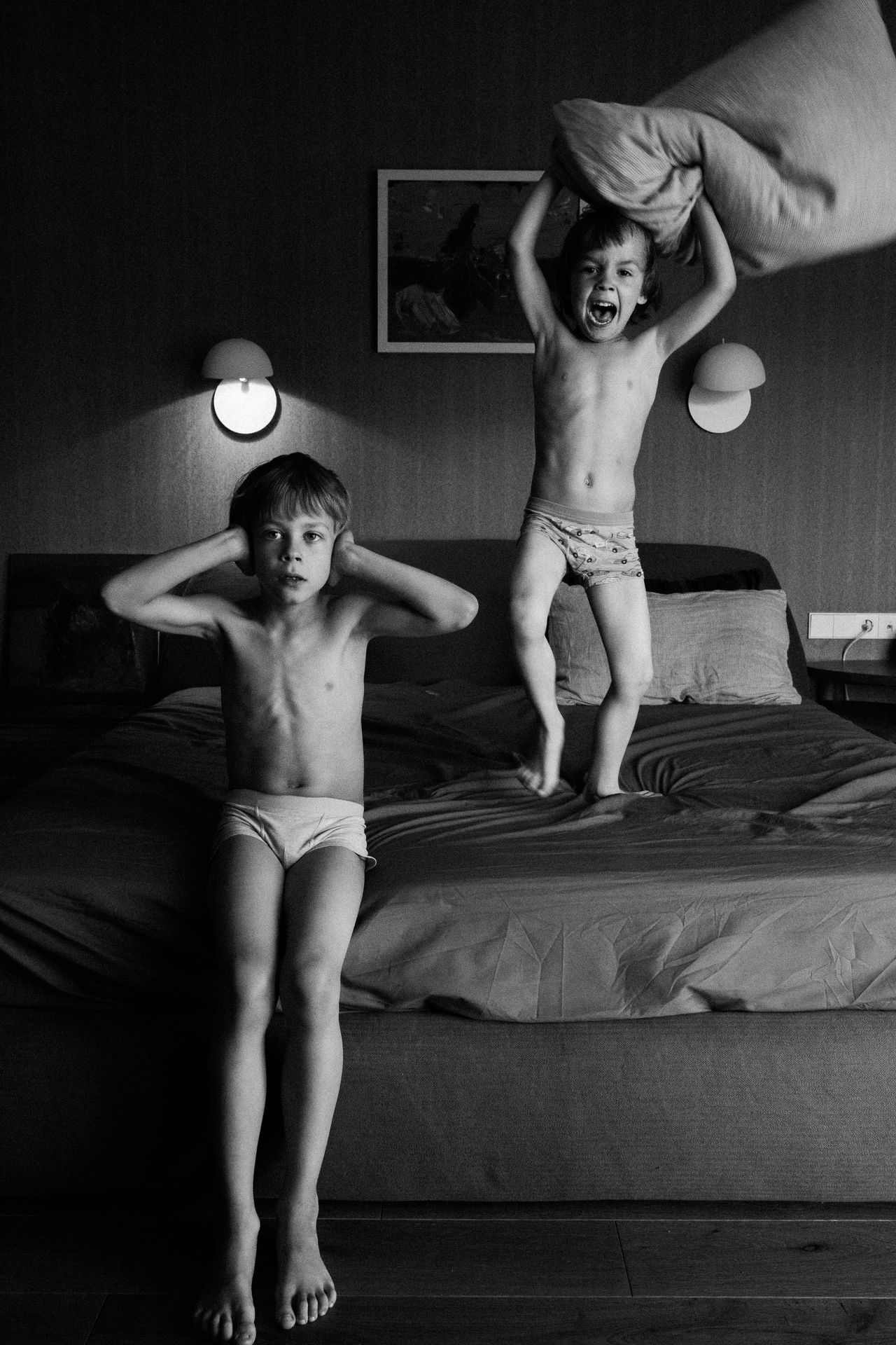 Life with autism spectrum. Autism Autism Awareness Bed Bedroom Childhood Day EyeEm Best Shots Full Length Home Interior Indoors  Leisure Activity Lifestyles People Real People Shirtless The Portraitist - 2017 EyeEm Awards Togetherness Two People Young Adult Young Women