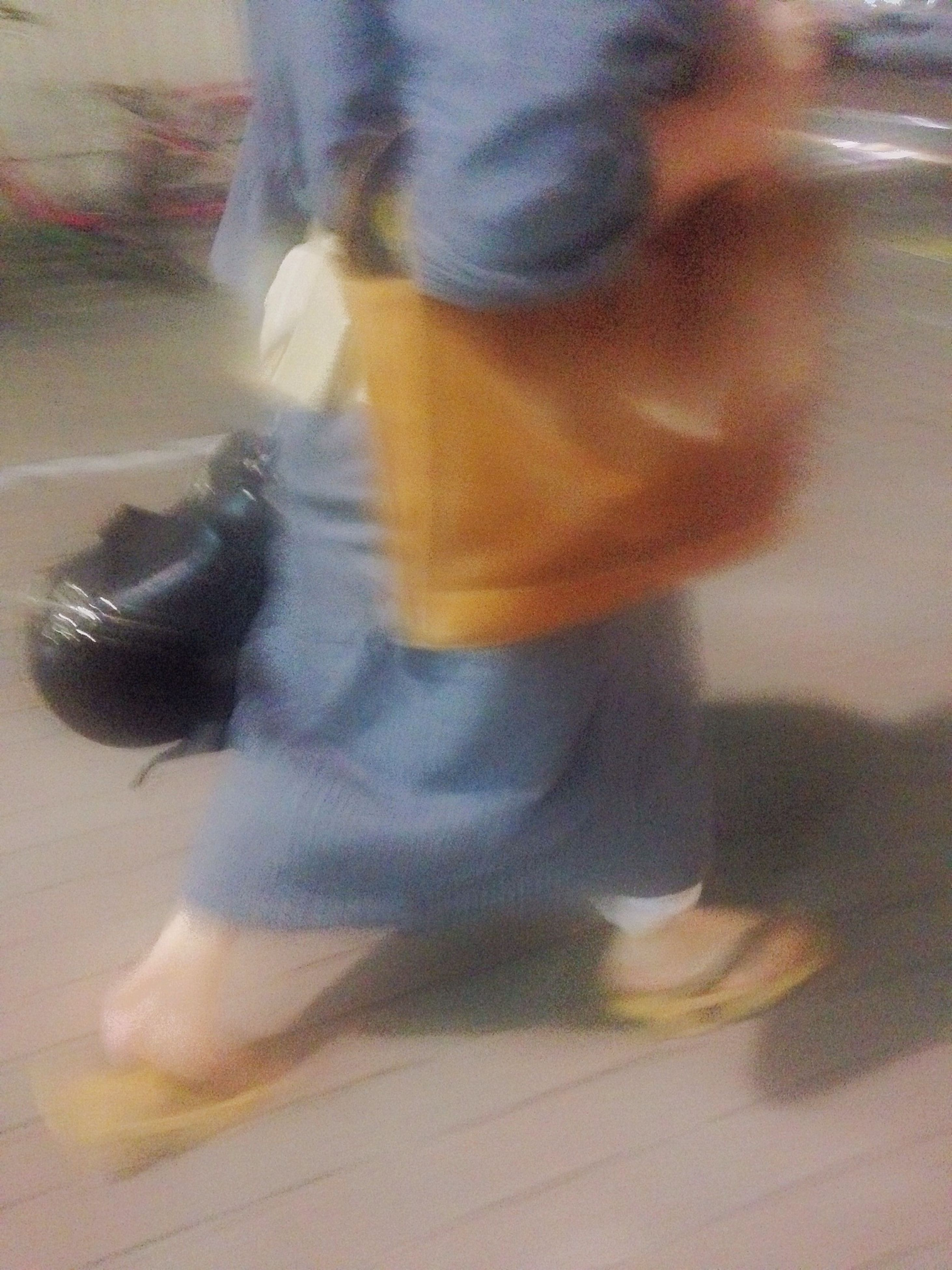 blurred motion, indoors, motion, lifestyles, leisure activity, person, unrecognizable person, selective focus, men, sunlight, walking, shadow, reflection, speed, side view, defocused, day, close-up