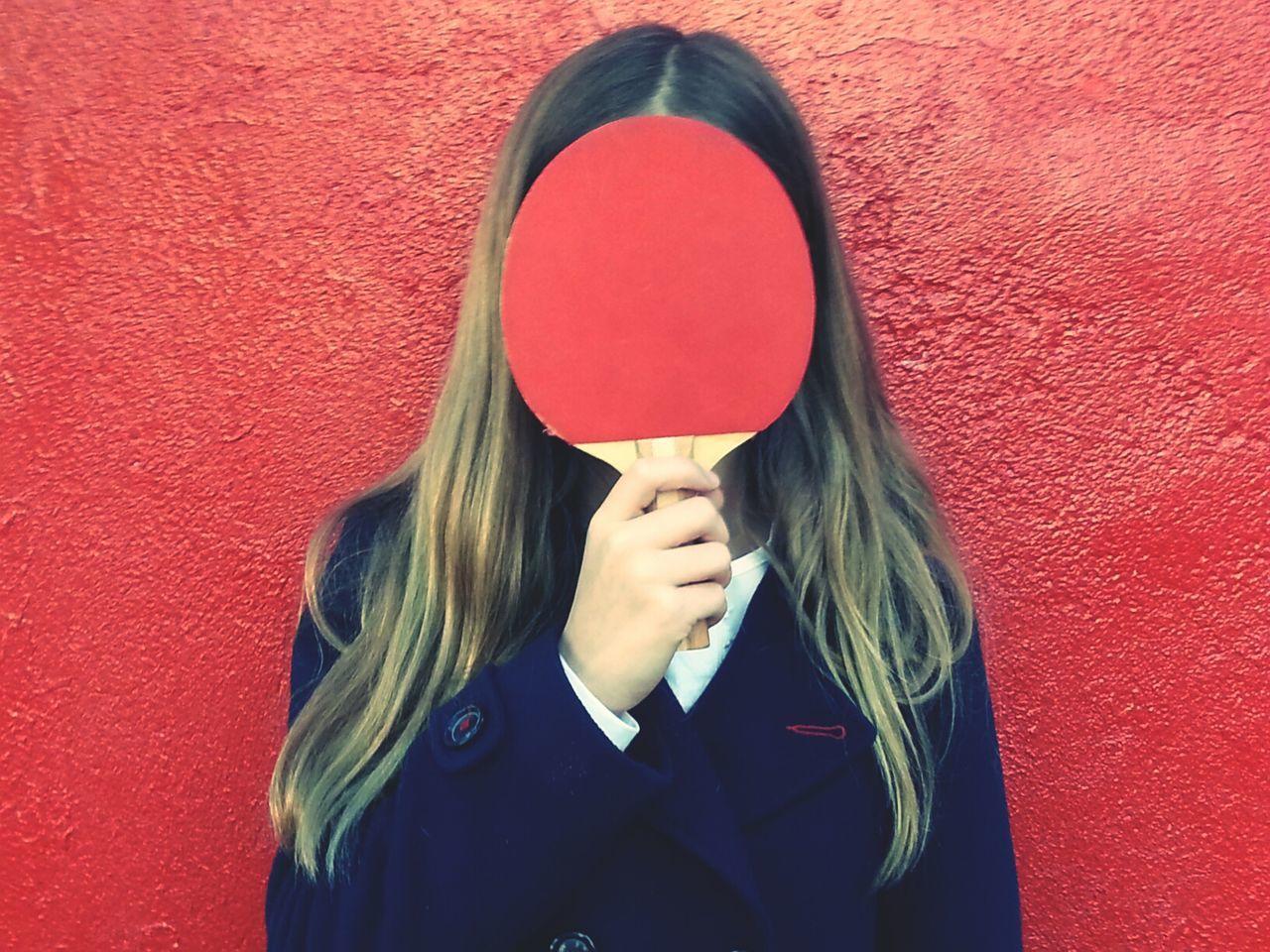 Teenage Girl Holding Table Tennis Racket