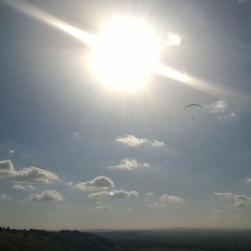 #summer #sun #gliders over #Westbury #Whitehorse on a beautiful Sunday afternoon