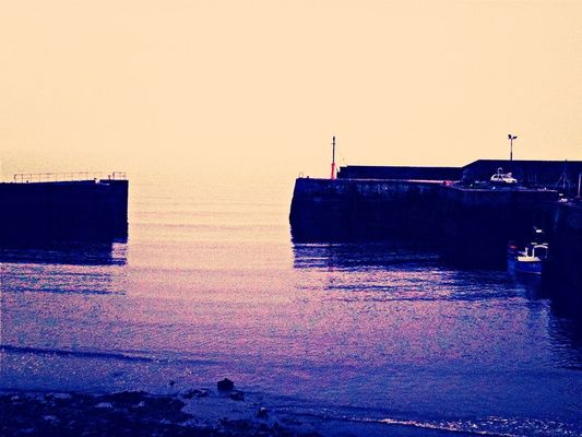 sea at Port Seton Harbour by Rebecca Hale