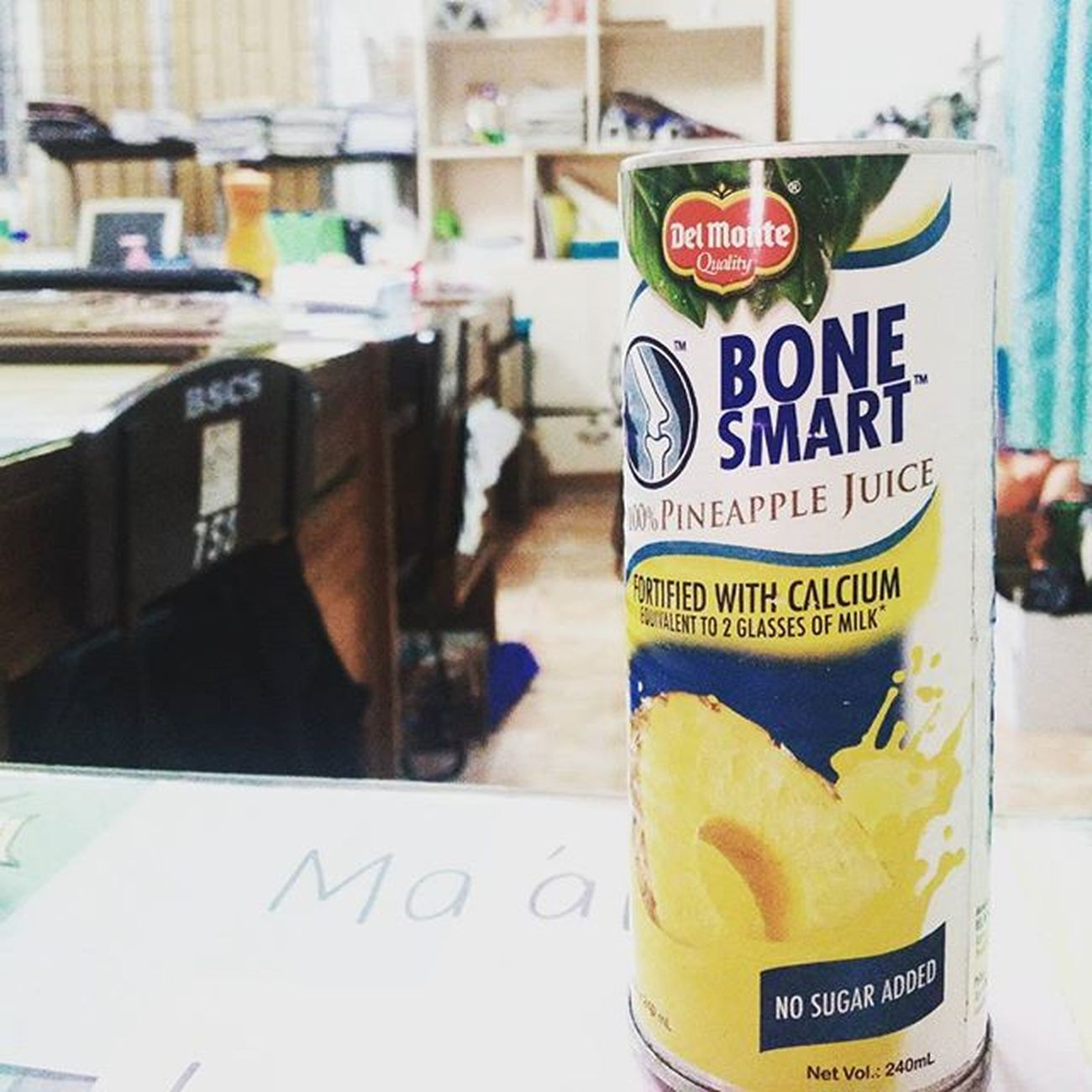 The drink that makes my day 🍍🍍🍍 Delmonte Pineapple Bonesmart