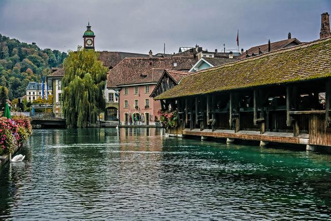 HDR Lake Suisse  Swiss Switzerland Thun Town Tranquil Scene Urban Water