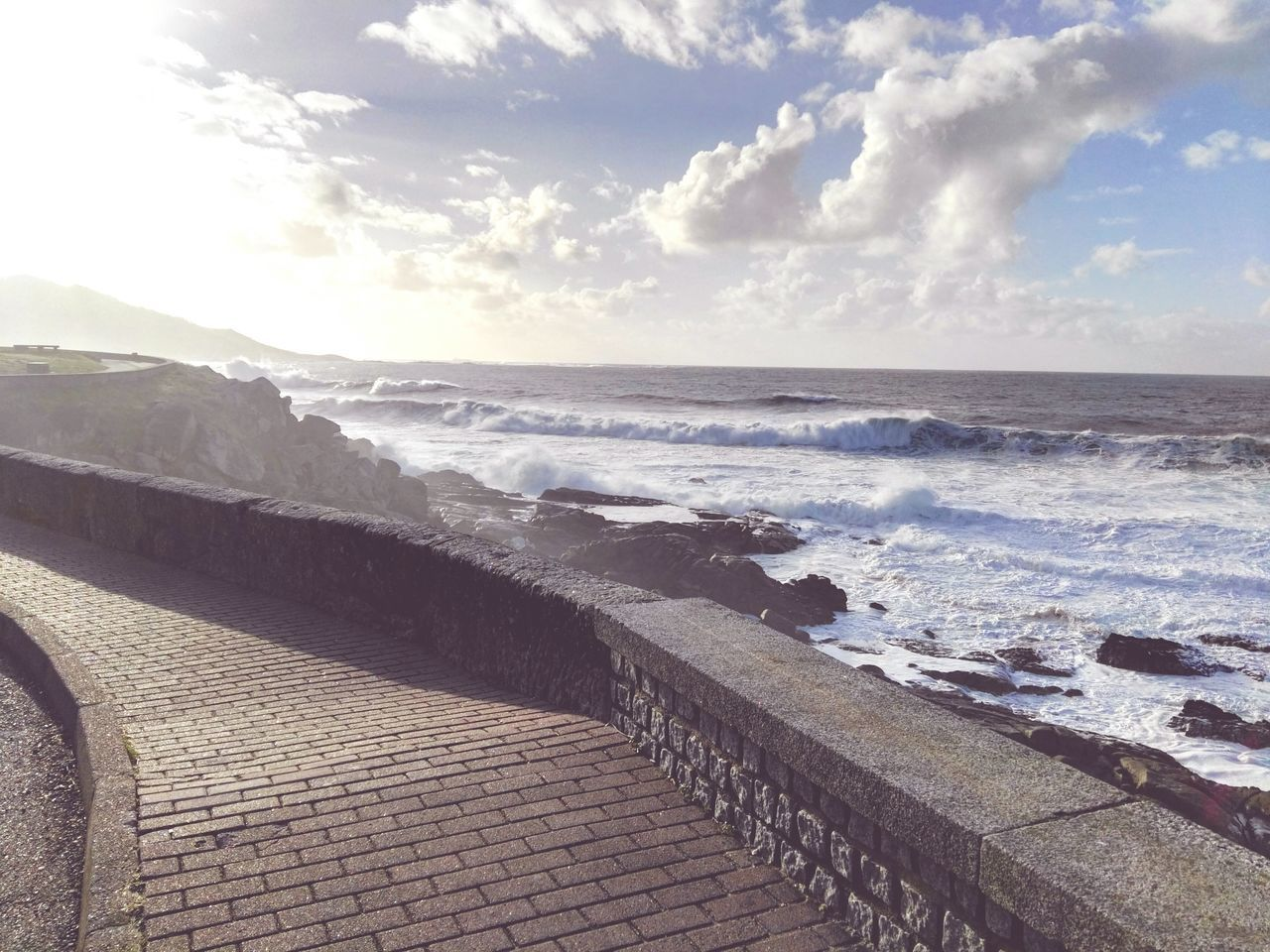Sea Water Beach Horizon Over Water Nature Before The Rain