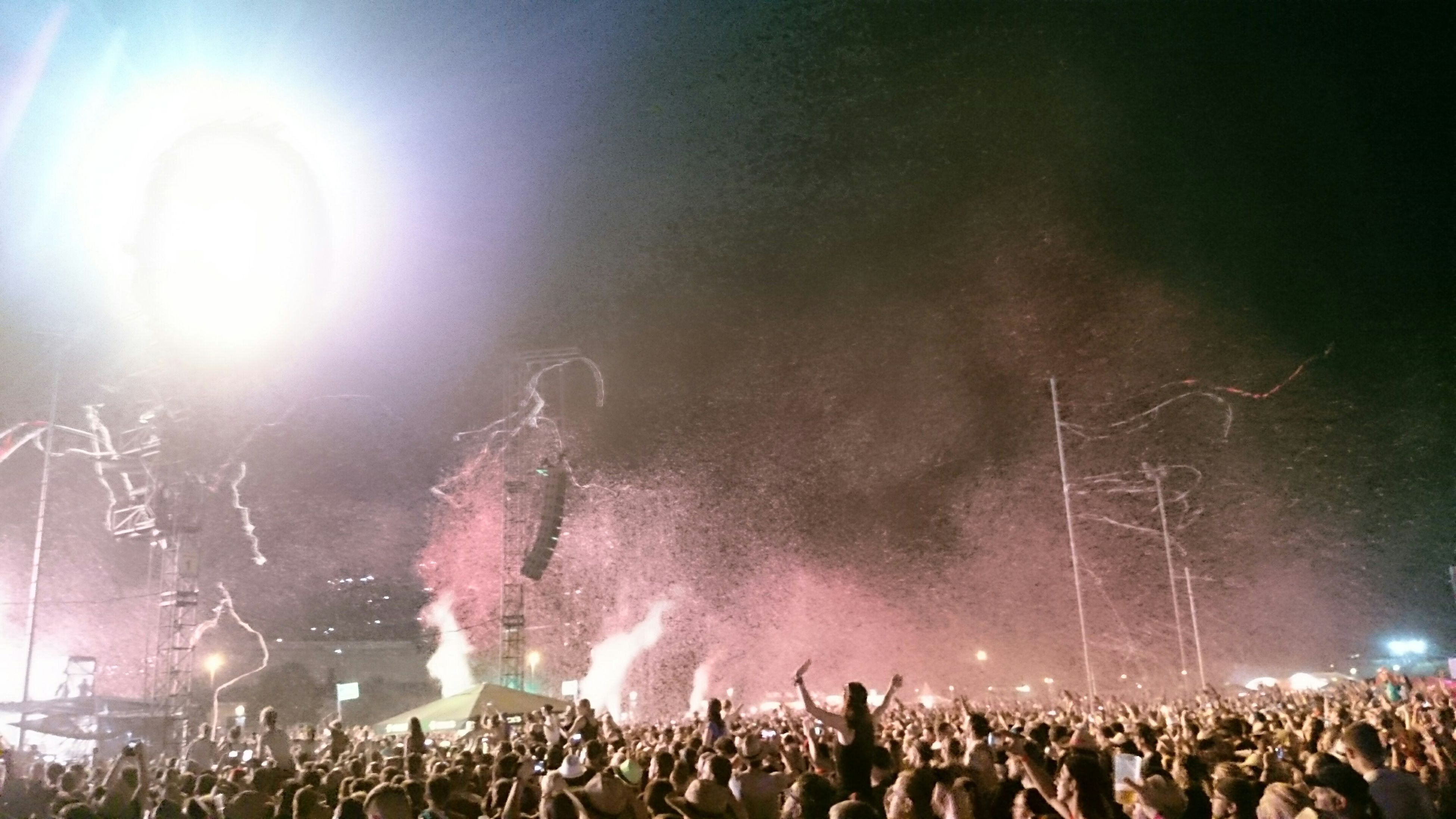 large group of people, crowd, illuminated, arts culture and entertainment, night, person, event, music, lifestyles, performance, men, music festival, enjoyment, popular music concert, leisure activity, nightlife, celebration, stage - performance space, concert