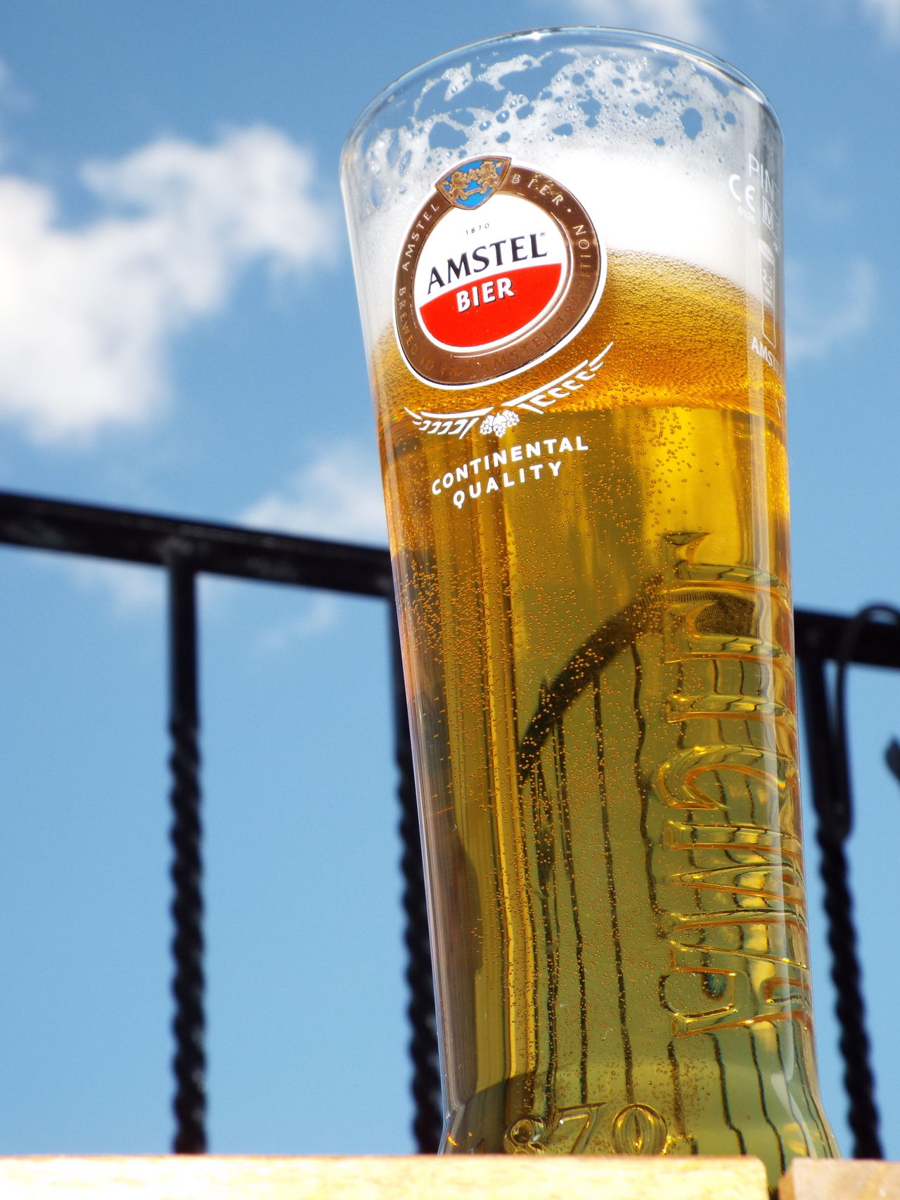 Enjoying a drink of Amstel at my Juliet balcony Relaxing Enjoying Life Balcony Juliet Balcony Beer Amstel Blue Sky Sky And Clouds Blue Wave 43 Golden Moments