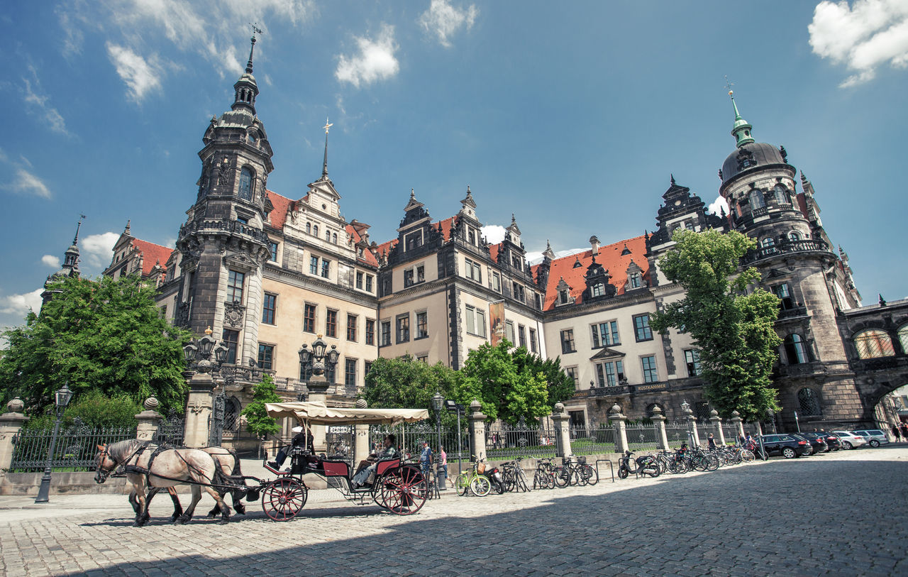 Cityscapes from Dresden, Germany. Architecture Blue Sky Building Carriage Center City Cityscape Dresden Europe Exterior Germany Historic Historical Landmark Old Streetphotography Tourism Town Travel Travel Destinations Urban Vacation