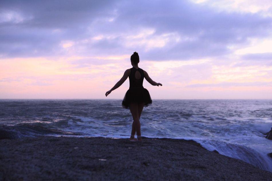 Beautiful stock photos of ballet, Ballet Dancer, Cloud, Dusk, Horizon Over Water