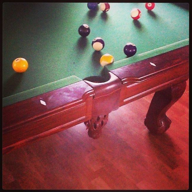 Playing Pool Table With My Lil Bro