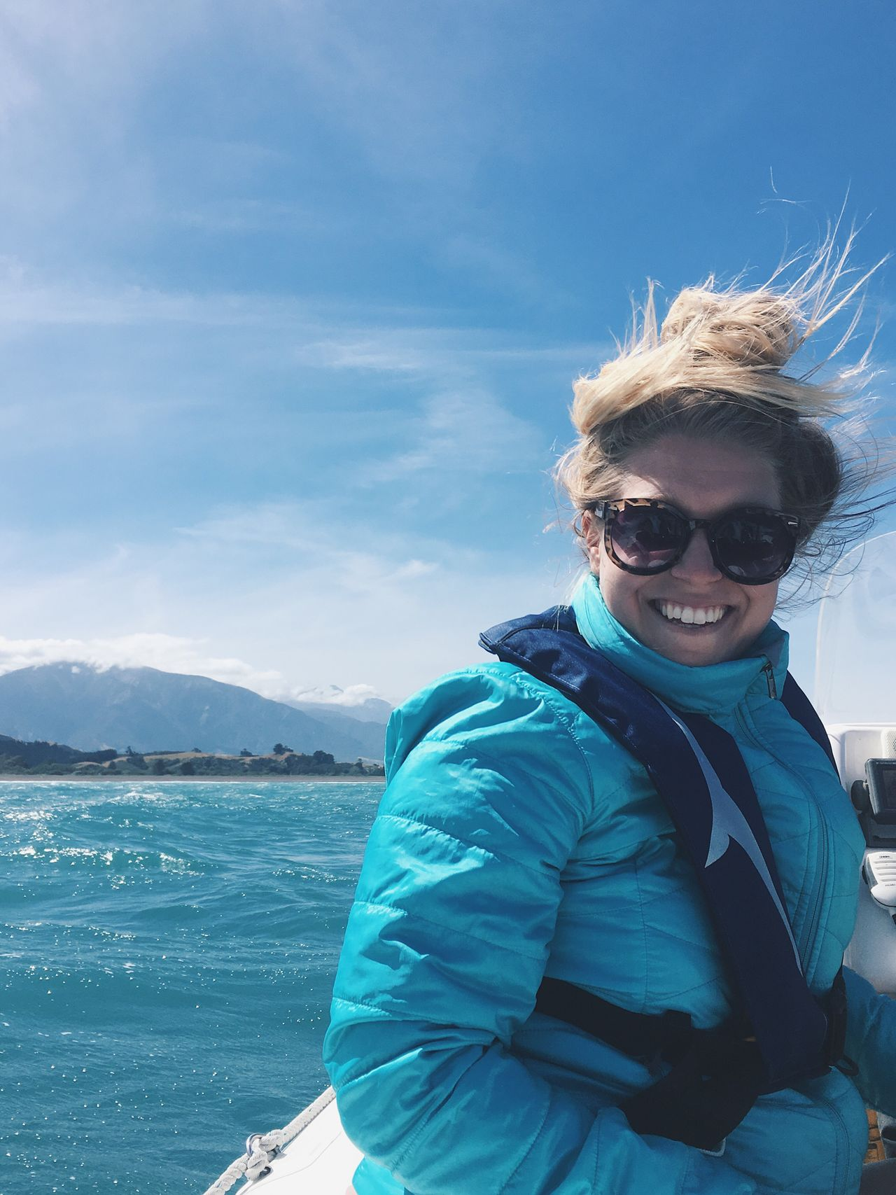 rach One Person Smiling Outdoors Sunglasses Portrait Looking At Camera Real People Leisure Activity Adventure Young Adult Sea Water Nature Sky Day New Zealand Kaikoura