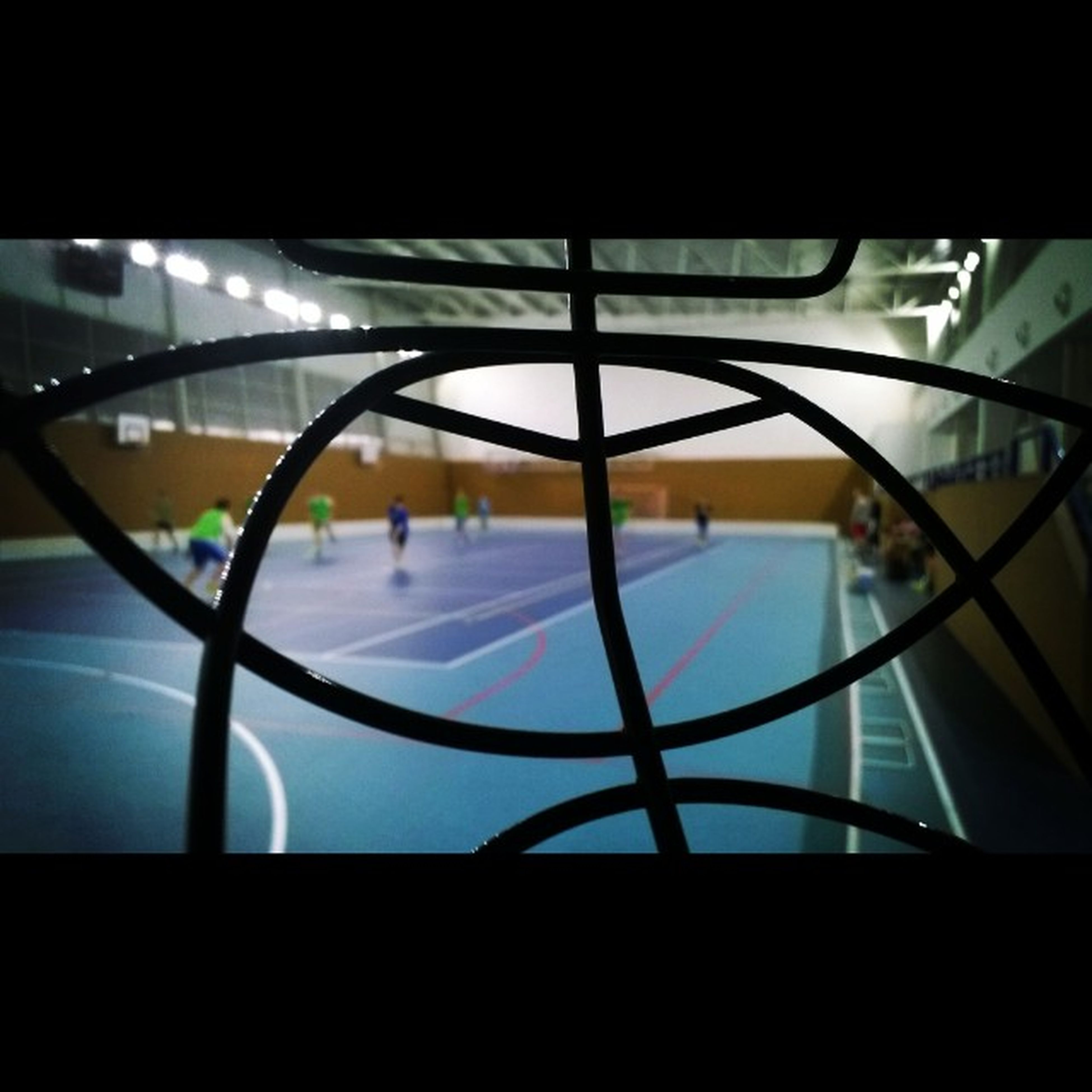 Pohed z helmy :3 :D Florball Gollman Mask Training