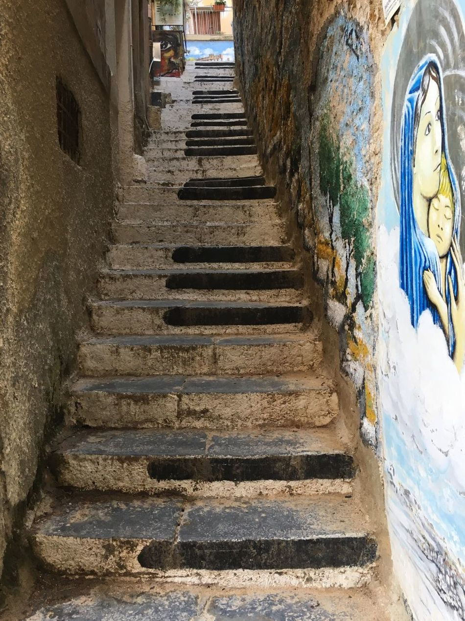 Art Is Everywhere Agrigento Sicily Steps Staircase Architecture Steps And Staircases Built Structure Day Building Exterior The Way Forward No People Outdoors Sky