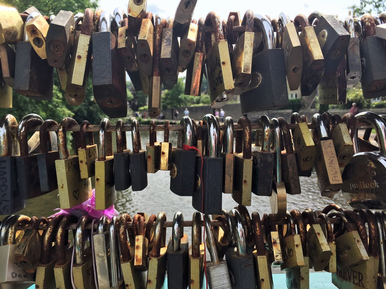Hanging Large Group Of Objects Abundance No People Variation Padlock Metal Outdoors Day Hope Love Lock Close-up Love Locks
