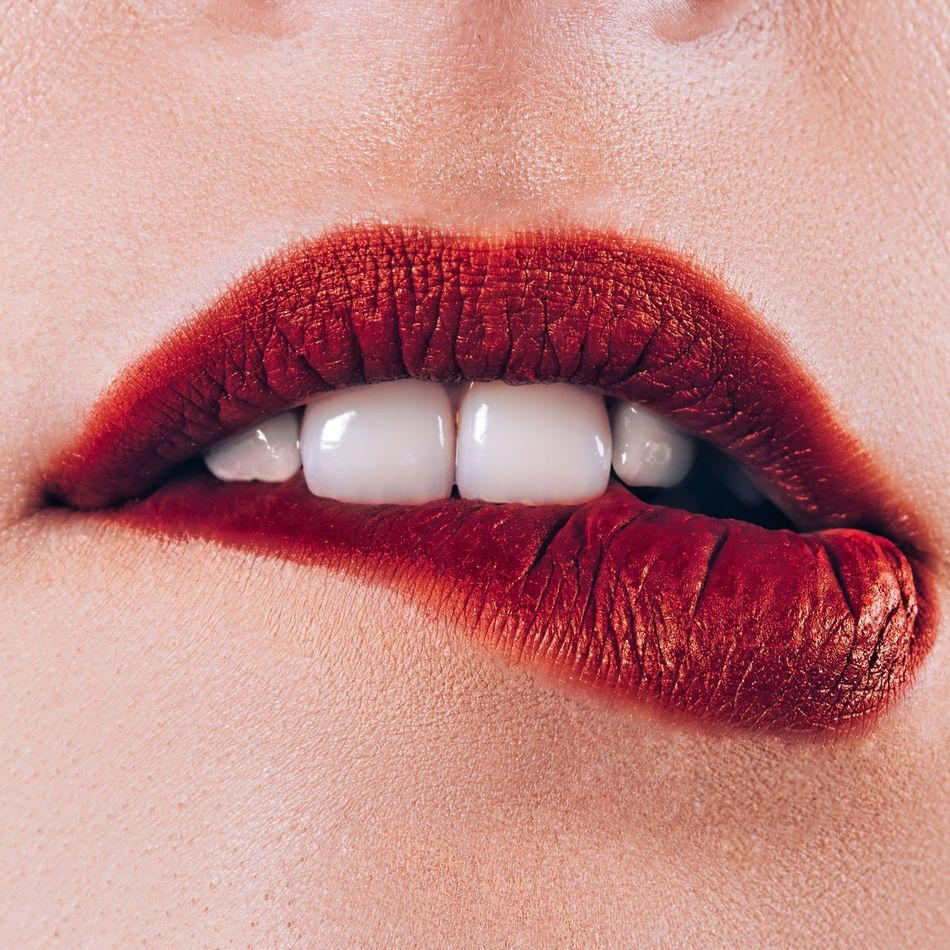 Beautiful stock photos of lippen, Anxiety, Beauty, Biting Lip, Close-Up