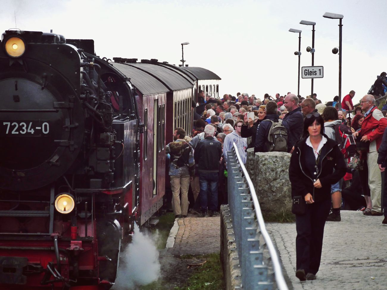 Rush Hour on the Brocken Harz Germany Brockenbahn Harzer Schmalspurbahn Railway Railwaystation Rail Railway Track Railway Station Crowd Crowded People Steam Locomotive Steamtrain Steam Train Steam Trains Showcase July Global Photographer Works Exhibition Global Photographers Alliance Transportation Transport