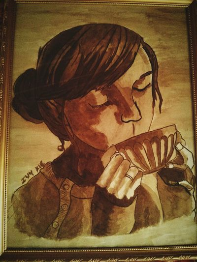My Drawing With Coffee My 9th Grade Drawing Be Creative With Coffe Got A 5.0 In Art Doyoulikeit? Just Having Fun Check This Out