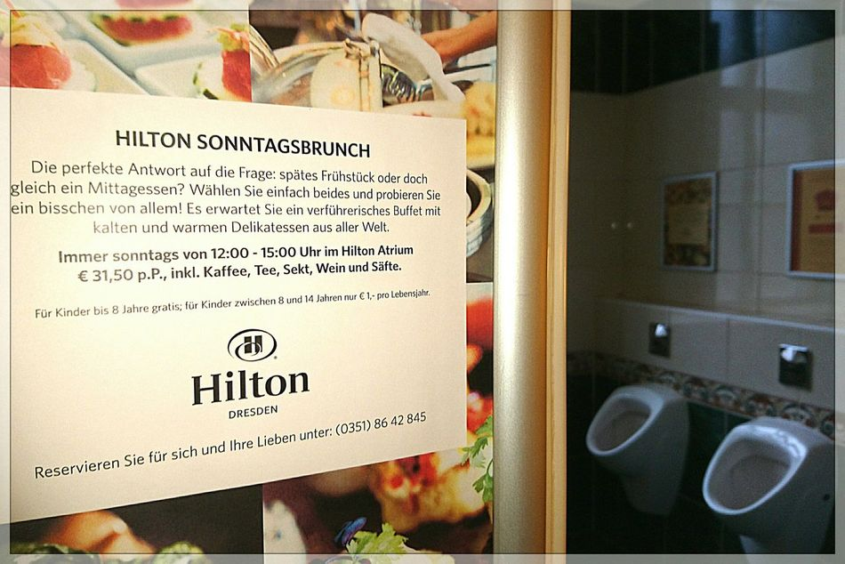Better Look Twice Hilton Dresden Toilette Art Vis-a-vis