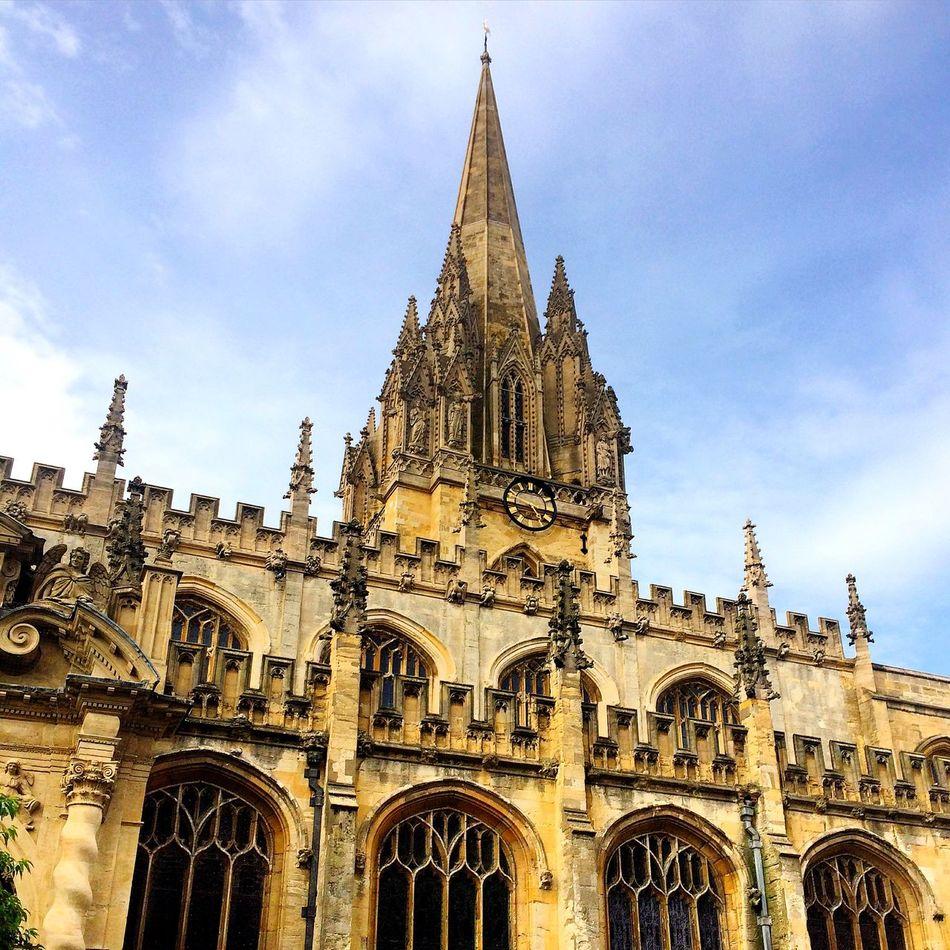 Oxford Landmark Architecture Tower Church Saint Mary The Virgin Religious  Worship England University