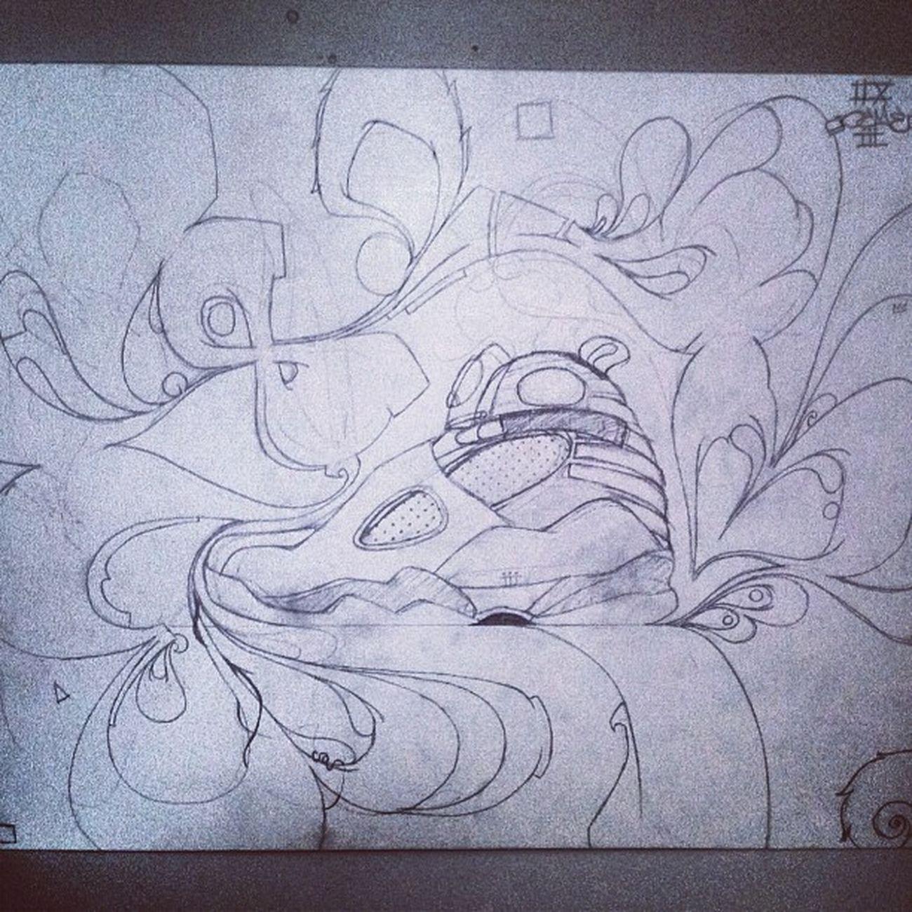 Progress on the homie @cilfone15 's piece. Jordan Jordan8 Bugsbunny Nike art artwork paint draw igers ighub igdaily instagood graffiti drawing iii sg