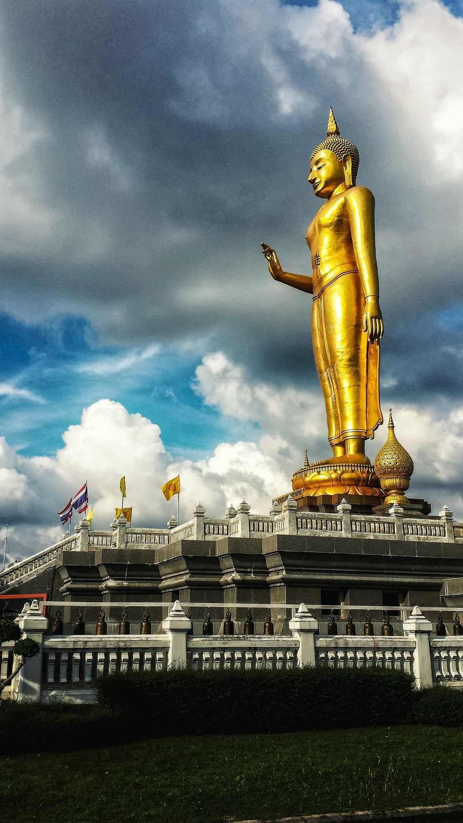 Showcase: January Phra Phutthamongkol Maharat Low Angle ASIA Southeast Asia Outdoors Southern Thailand Clouds Blue Sky Statue Mountain Buddhism Buddhist Temple Songkhla Afternoon Songkhla Province Spotted In Thailand