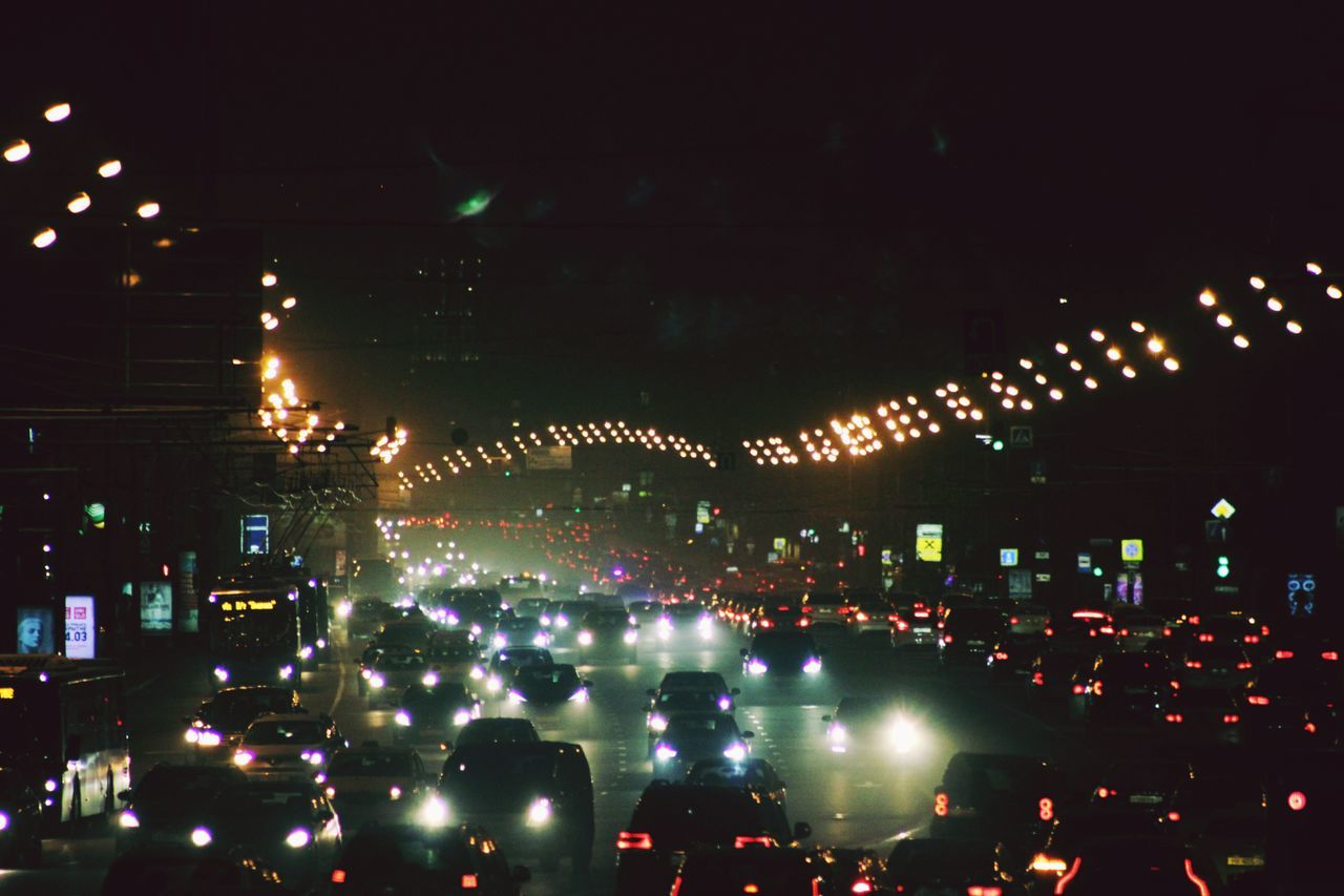 Night Sky Illuminated Outdoors Moscow, Москва City Life Russia россия Cityscape ЛенинскийПроспект калужская площадь Citylights✨ DarkRoad Cars Plentyofcars