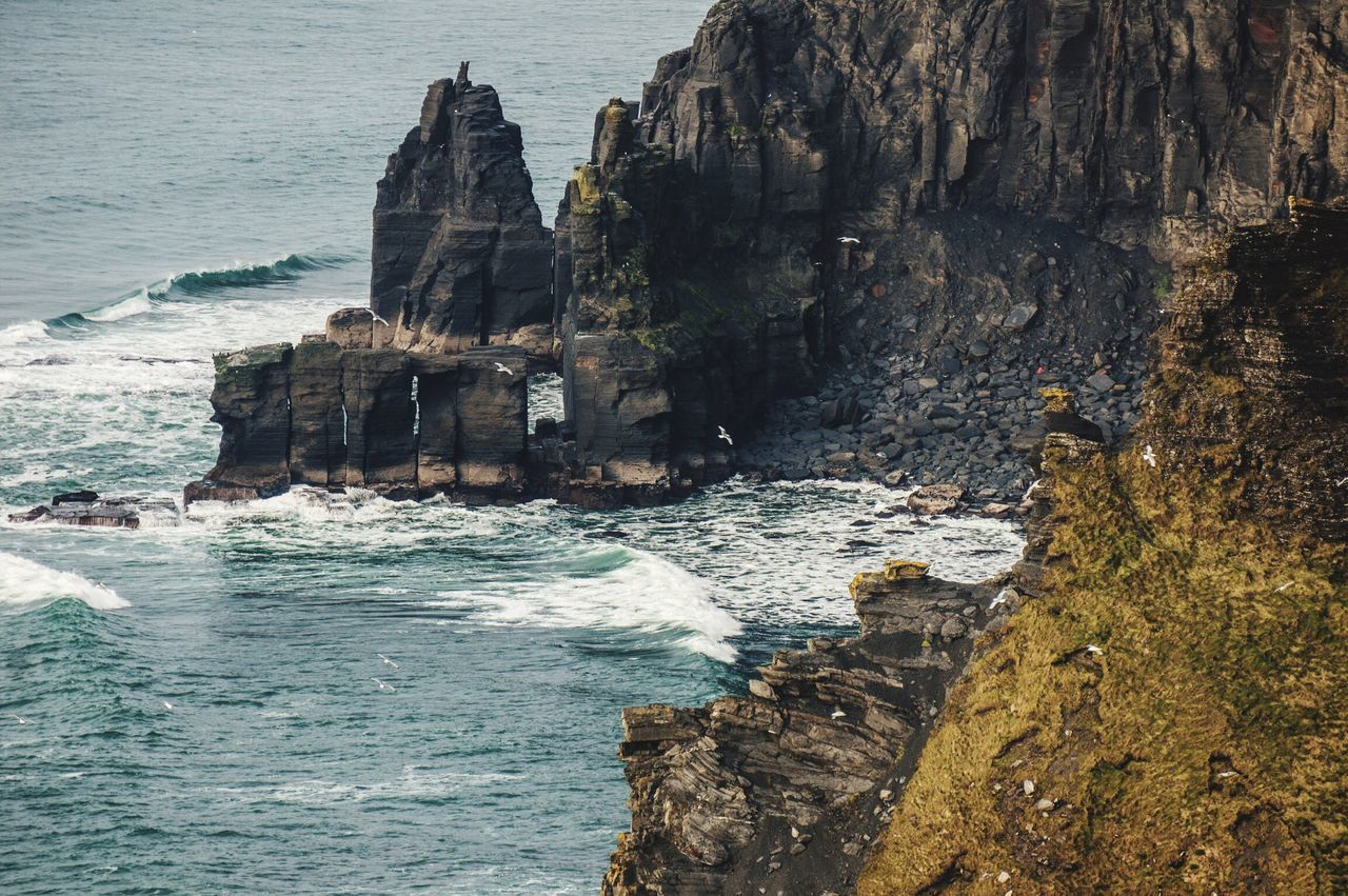 Beautiful stock photos of ireland, Scenic Lookout, beauty in nature, blue, cliff