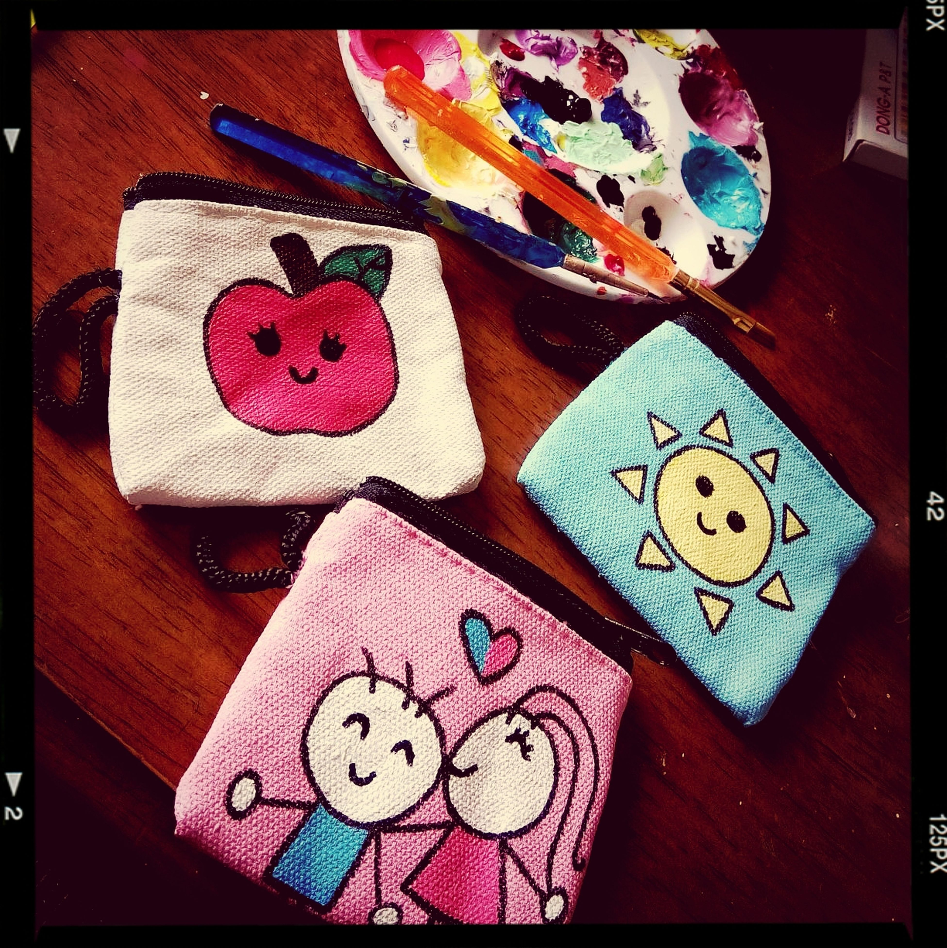 my new hobby. I love Art Does it look Girly ? Mini Pouches Coin Purses they are my customized designs. Planning to make a business from it. ? #handmade