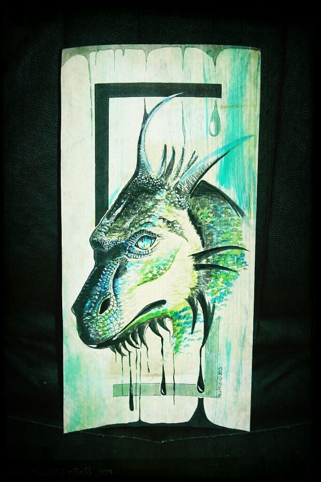 saphira by milymelo Watercolors  Painting Myartbook Dragon