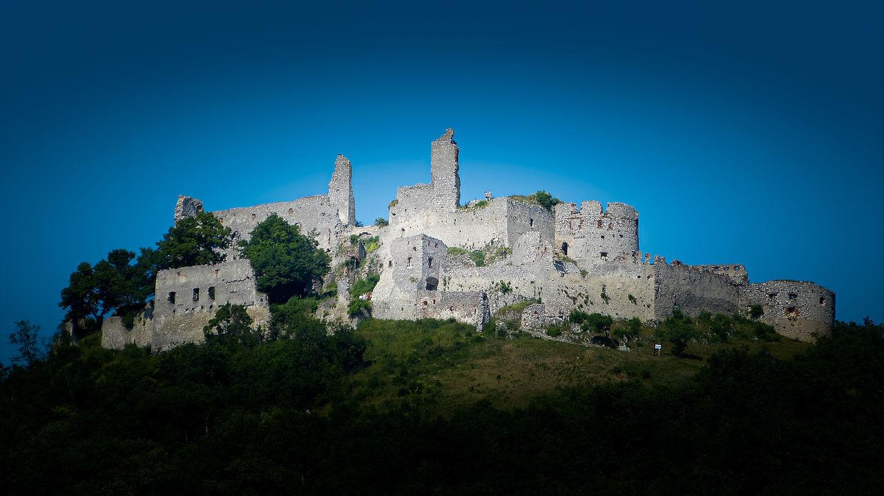 Plavecký hrad, Slovakia Ancient Blue Castle Castle Clear Sky Fort Fortress Green History Hrad Old Ruin Plavecky Plavecky Hrad Plavecky Plavecky Hrad Sky Travel Destinations Trees