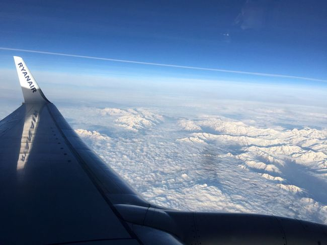 The Clouds And Sky and The Alps From An Airplane Window Enjoying Life Check This Out