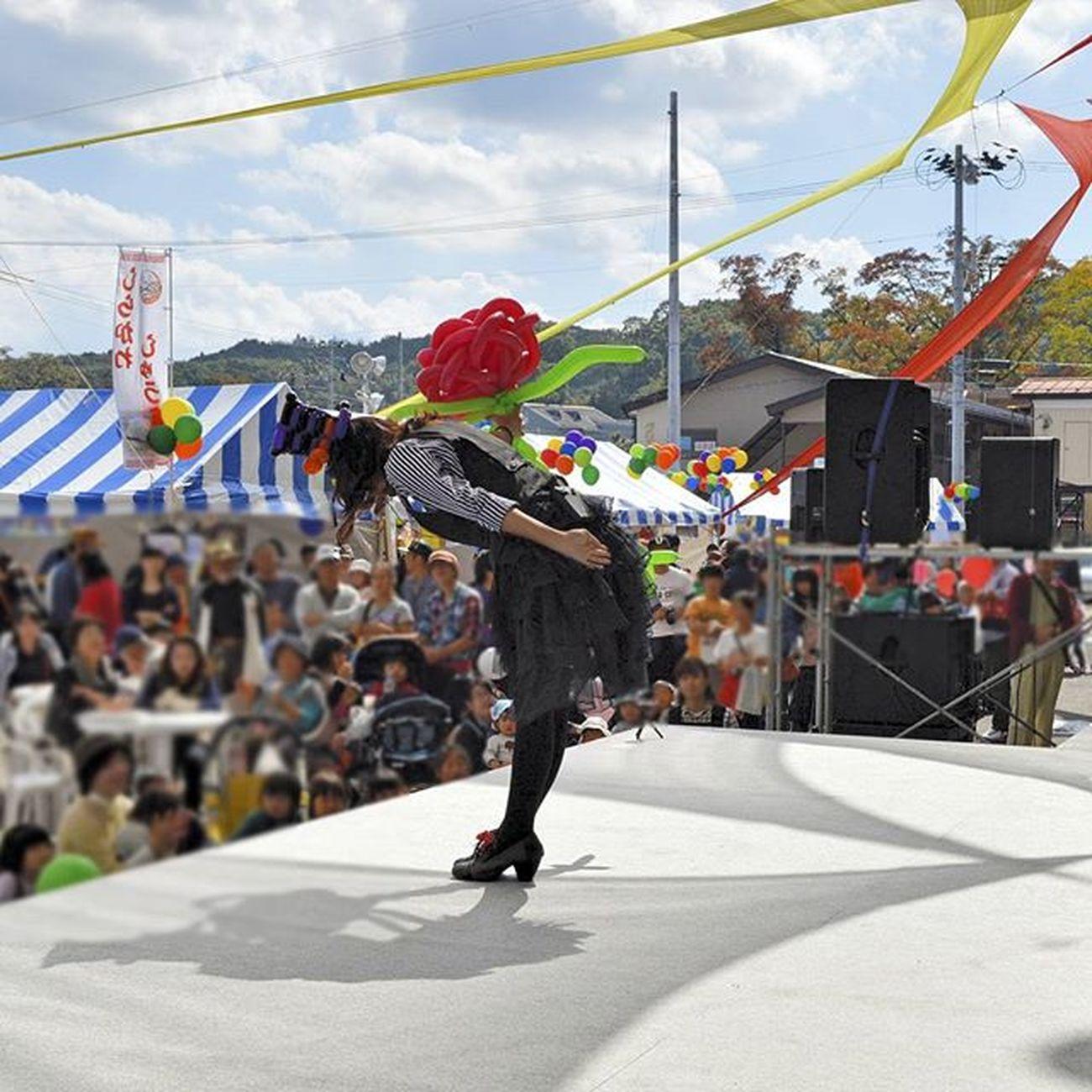 ステージパフォーマンスもやってます バルーン バルーンパフォーマンス バルーンパフォーマー BalloonArtistNOZOMI Decoraしらかわ 白河市 福島県 ふくしま BalloonPerformer Balloonperformance ステージ バラ 薔薇 Rosé 風船