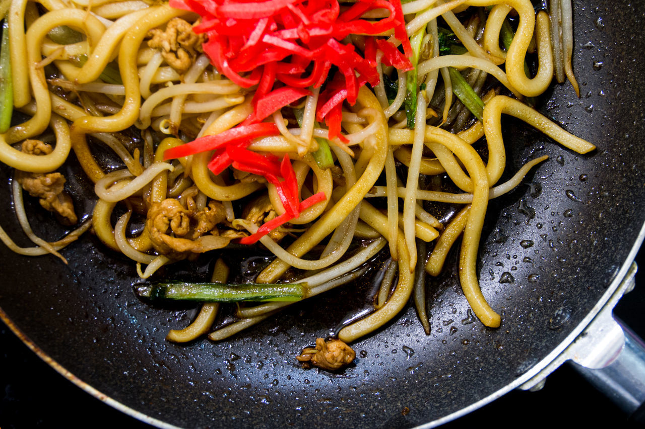 Abundance Close-up Compositions Cooking At Home Enjoying The View Food Freshness Frying Pans Full Frame Indulgence Japanese Culture Japanese Food Meal No People Noodles Prawn Serving Size Still Life Taste Good Udon Udon Noodles Yakiudon