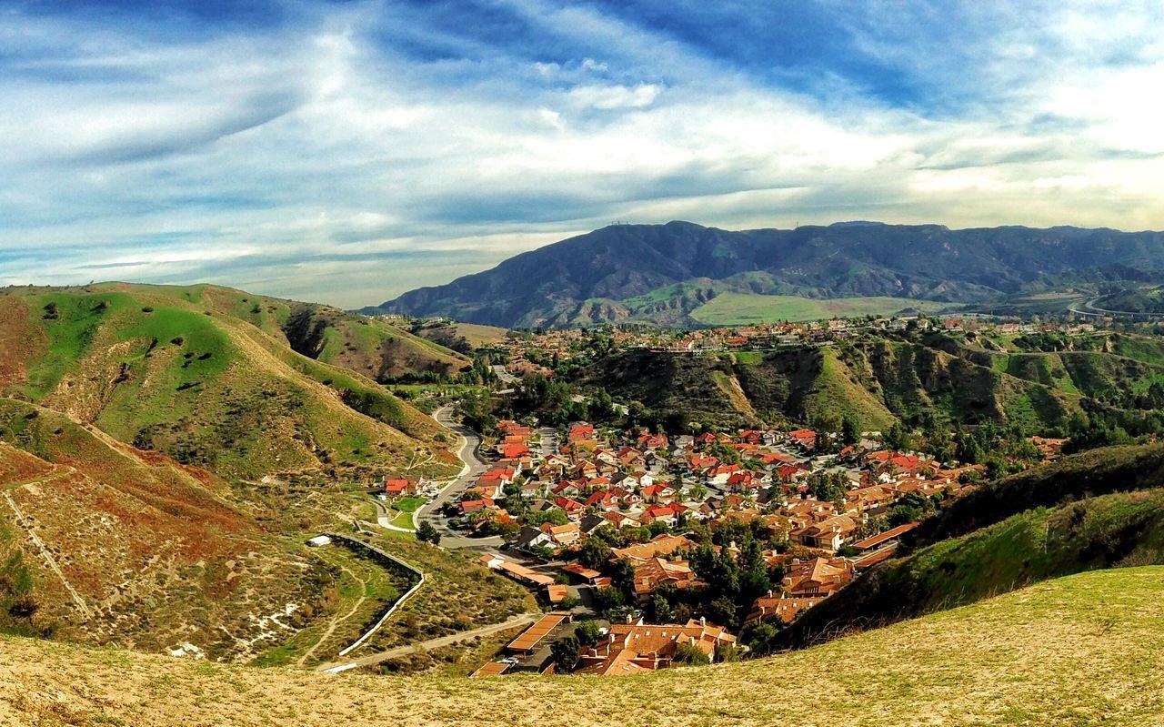 Yorba Linda in Southern California. Yorbalinda Southern California CA Mountains Landscape