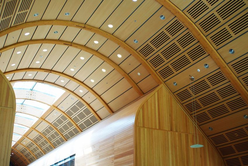 Architecture Indoors  Ceiling Built Structure Low Angle View No People Modern Illuminated Day Yale Yale University