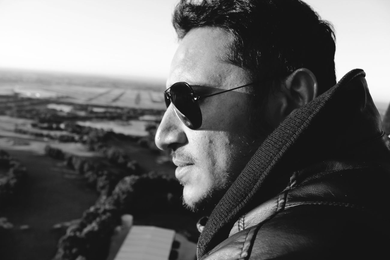 Portrait Of A Friend Portrait B&W Portrait Faces In Places Sunrise Sunshine Sunkissed Sun Glare Shades Sunglasses Picturing Individuality Showcase: November Light EyeEm Best Shots Light And Shadow Taking Photos Getting Inspired Black And White Monochrome Blackandwhite My Best Photo 2015