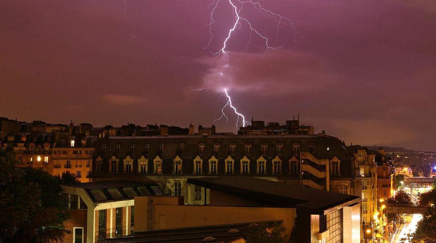 Dramatic Sky France Illuminated Light Storm Lighting Night Orage Paris Power In Nature Thunder Thunder And Lightning Thunderclouds Thunderstorm Thunderstorms EyeEm Best Shots EyeEm Gallery