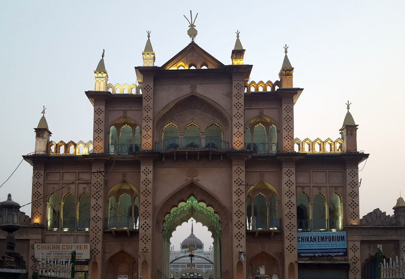 Travel Destinations Architecture Gold Colored Built Structure Tourism City Place Of Worship Building Exterior Travel Lucknowdiaries Chota Imambara Architecture Old Buildings Historical Monuments